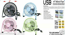 Mini usb fan cooler portable pc metal laptop note book super mute desk comp