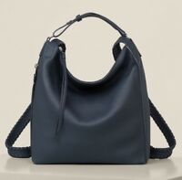 AllSaints Kita Small Backpack Bag in Marine Blue (Leather/Womens/Tote/All Saint)