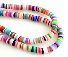 300 Fimo Polymer Clay 5mm Katsuki Assorted Colors Slice Flat Heishi Spacer Beads