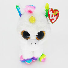 "6"" Ty Beanie Boos Rainbow Unicorn Plush Stuffed Animals Soft Kids Toys CS"
