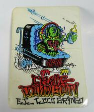 Craig Johnson El Loco Gringo - Vintage 80's Skateboard Sticker - VTG Skater NOS