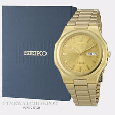 Authentic Men's Seiko Automatic Gold tone Stainless Steel Watch SNKK52