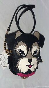 Betsy Johnson Fritzy Kitsch Dog with Squeaky Nose Crossbody Shoulder Bag NWT