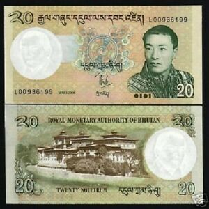 BHUTAN 20 NGULTRUM P30 2006 x 20 Pcs LOT BUNDLE KING DZONG DRAGON UNC NOTE BILL