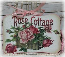 "~ ""ROSE COTTAGE"" Vintage~Shabby Chic~Country Cottage style - Wall Decor Sign ~"