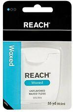 6 Pack Johnson & Johnson REACH Dental Floss Waxed Floss 55 Yards Each