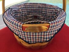 Longaberger Woven 2002 Memories Basket with Homestead Liner & Protector