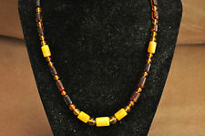 Beautiful Faceted Baltic Butterscotch Amber Necklace and Earrings