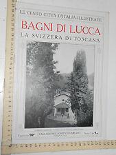 CENTO CITTA D'ITALIA ILLUSTRATE - SONZOGNO - BAGNI DI LUCCA