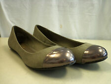 MIA New Womens Jacky Gray Flats 6.5 M Shoes NWOB