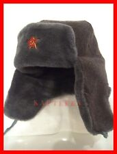 ☆ SALE!!! ORIGINAL ☭ ROTE ARMEE UNIFORM WINTER MÜTZE SCHAPKA USCHANKA, 2.WAHL ☆