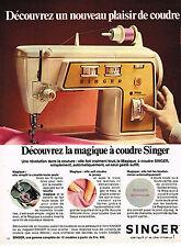 PUBLICITE  1971   SINGER   machine à coudre pour le plaisir