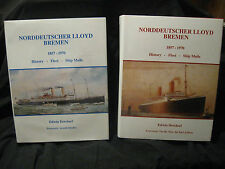 Refernce Book Norddeutscher Lloyd Bremen HAPAG Vol I & II Paquebot Sea Posts