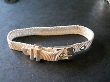 1/2 Inches Long New Silver Mesh Buckle Bracelet 7