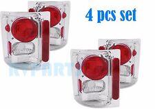 HOLIDAY RAMBLER AMBASSADOR 2000-2004 CHROME TAILLIGHTS REAR LAMPS RV - 4PCS SET