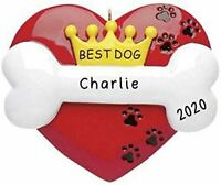 "Personalized "" Best Dog "" Christmas Hanging Tree Ornament HOLIDAY GIFT 2020"
