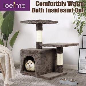 Kitten Pet Cat Tree Tower With Scratching Post/Cozy Condo/Kitten Toy/2 Platforms