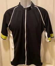 CO-OP Cycles Mens L Cycling Jersey Shirt Reflective Black White Back Pockets