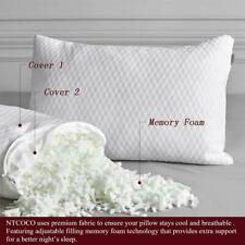 Memory Foam Bed Pillows for Queen (2-Pack) White- Ntcoco New In Box!