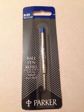 PARKER BALL PEN REFILL-BLUE INK-MEDIUM POINT-UK-NEWHAVEN-NEW OLD STOCK