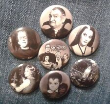 """1"""" pinback button set inspired  by """"The Munsters"""""""