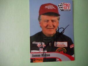 James Hylton signed 1992 PRO SET LEGEND #48 DRIVER WC Card W/COA & #ed Hologram