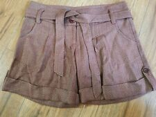Tex By Max Azria Dressy Bermuda Shorts With Belt