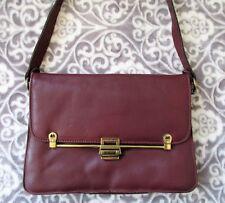 VTG ETIENNE AIGNER Hand Made Burgundy Red Leather Flap Latch Shoulder Bag Purse