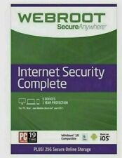 Webroot SecureAnywhere Internet Security Complete 5 Devices 1 Year New & Sealed