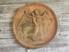 Decorative Terracotta wall stone plaque features Angel with child on her back
