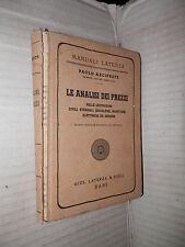LE ANALISI DEI PREZZI Paolo Arciprete Laterza 1949 libro manuale corso di