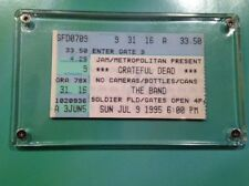 GRATEFUL DEAD JERRY GARCIA LAST CONCERT TICKETMASTER STUB CHICAGO 7/9/95