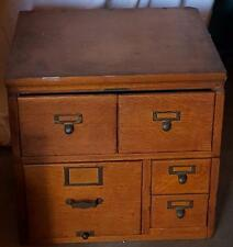 Wonderful Vintage Library Bureau Sole Makers 5 Drawer Card File Cabinet - GREAT