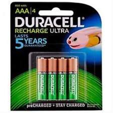 DURACELL 4 X AAA 1.2v  850mah RECHARGEABLE BATTERIES GENUINE FREE POST BARGAIN