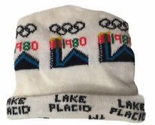 Vintage 1980 Lake Placid NY Winter Olympics Winter Hat Cap Adult OSFA