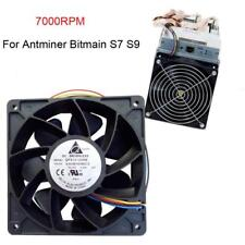 7000RPM Cooling Fan Replacement 4-pin Connector For Antminer Bitmain S7 S9 Fan