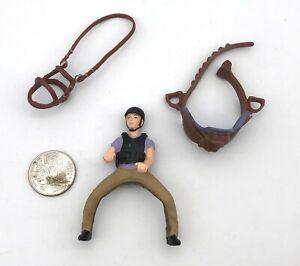 Schleich RECREATIONAL HORSE RIDER Brown Hair Girl Purple Shirt Figure w/Saddle