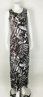 Chico's Zenergy NWT Noelle Palm Print Maxi Long Dress Stretch Drawstring Waist