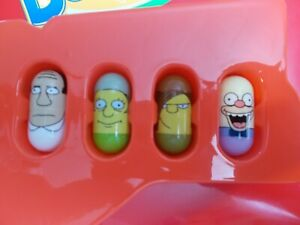 Mighty Beanz The Simpsons 4 Bean Lot #32 Doctor Hibbert Dr., #22 Krusty & 2 More