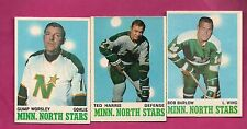1970-71 OPC NORTH STARS WORSLEY GOALIE + BARLOW + HARRIS  CARD (INV# A1917)