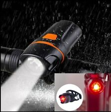 LED USB Rechargeable Bicycle Bike Headlight Front Lamp Torch Light