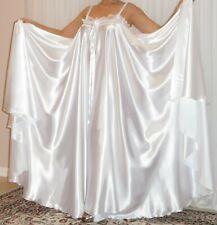 New listing Vtg Lingerie Silky Satin Slip Full Sweep Negligee Babydoll Long Nightgown M- 6X