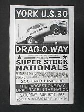 DRAG STRIP GASSER LOT 12 RACE POSTERS YORK US30 DRAGWAY 42 LIONS BEST EBAY DEAL!