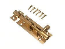 NUOVA PORTA BULLONE BARILE Slide Lock 63 mm 2 1/2 pollici con viti in ottone (Confezione da 100)