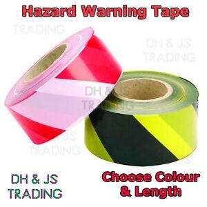Non Adhesive Barrier Tape Hazard Warning Danger Black & Yellow / Red & White