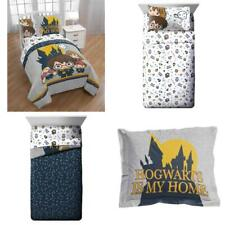 Harry Potter Hogwarts Icons Twin Bed in a Bag Bedding Set feat. Harry, Ron, Herm