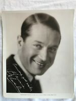 VERY EARLY PHOTO OF 1 of HOLLYWOOD GREATS MAURICE CHEVALIER 8 X 10 B.& W. GLOSSY