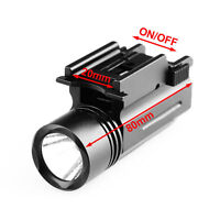 Removable Tactical Super Bright LED Flashlight Torch+Rail Mount for Rifle Pistol