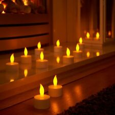 Auraglow Decorative Set of 12 Flickering Rechargeable LED Tea Light Candles