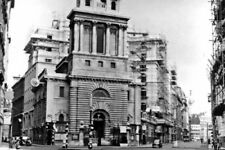 PHOTO  LONDON NEAR BANK INTERSECTION CITY OF LONDON 1957 LOMBARD STREET LEFT KIN